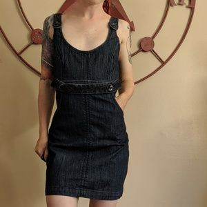 Vintage guess jeans body con belted dress denim